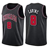 LGLE Camiseta de baloncesto para hombre, sin mangas, 8 Lavin Sports Basketball Jersey, chaleco deportivo, camiseta sin mangas, negro, XL