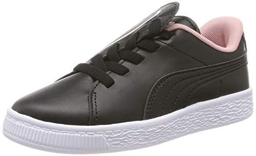 Puma Basket Crush Ac Ps, Zapatillas Para Niñas, Black-Bridal Rose, 31 Eu