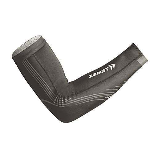 ザムスト(ZAMST) 着圧アームカバー Pressione ARM(プレシオーネアーム) コンプレッション スポーツ全般 ランニング 両腕入り グレー SSサイズ 386010