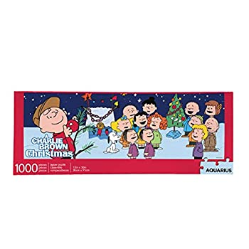 AQUARIUS Peanuts Charlie Brown Christmas Puzzle  Slim 1000 Piece Jigsaw Puzzle  - A Charlie Brown Christmas Puzzle - Officially Licensed - Glare Free - Precision Fit - 12 x 36 Inches Multi Color