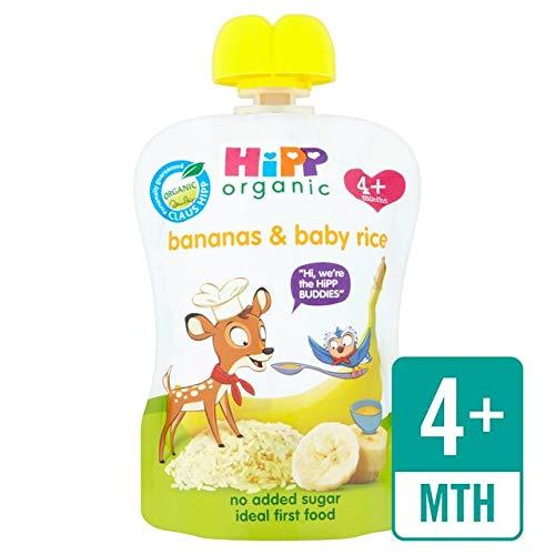 HiPP Organic Bananas & Baby Rice Pouch 4+ Mths 70G