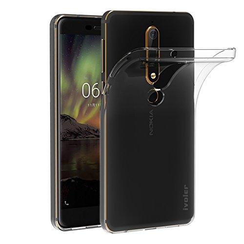iVoler Cover Compatibile con Nokia 6.1 / Nokia 6 2018, Silicone Case Molle di TPU Trasparente Sottile Custodia