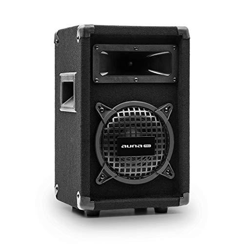 auna Pro PW - passiver PA-Lautsprecher PA-Box, 2-Wege-Lautsprecher, Impedanz: 8 Ohm, schwarz, Subwoofer/Horn-Mitteltöner, Belastbarkeit: 125 Watt RMS / 250 Wmax.