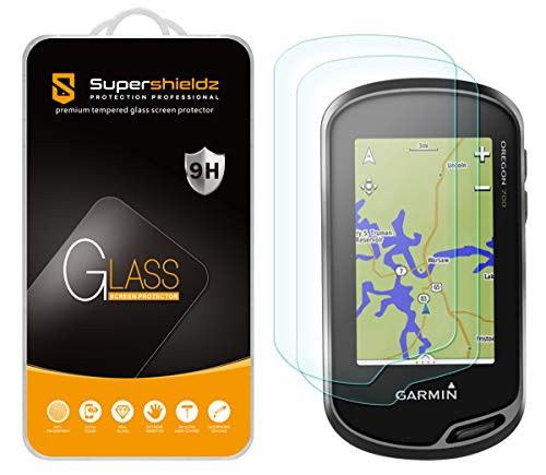 (2 Pack) Supershieldz for Garmin Oregon 600 600t 650 650t 700 750 750t Tempered Glass Screen Protector, Anti Scratch, Bubble Free