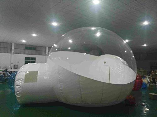 IHCIAIX Tenda, 3/4 / 5m 10/13 / 16ft Tenda Gonfiabile di Campeggio all'aperto della Bolla, Tenda Trasparente della Bolla di Aria della casetta di Campeggio della Cupola DIY Grande, 3,4M