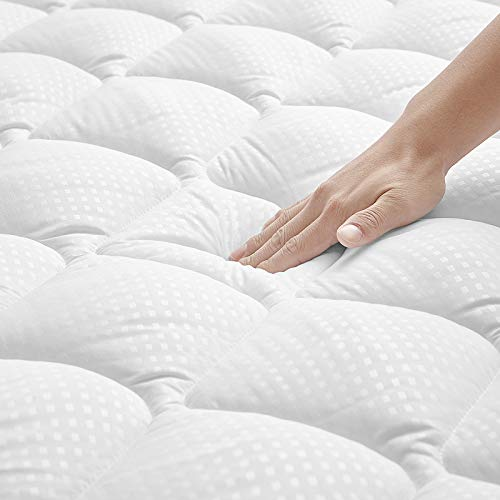 UMCHORD Mattress Pad Pillowtop Mattress Pad Queen Size Bed Extra Thick Diamond Quilted Mattress Cover with Elastic Deep Pocket8#039#03918#039#039 Cooling Mattress Topper for Summer