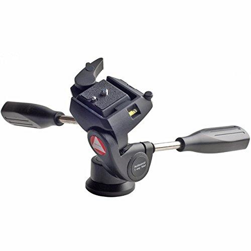 Kingjoy KH6720 3-Wege Fluid Video Neiger Videokopf Stativkopf - Tragkraft: 5kg, Pan 360° inkl. Schnellwechselplatte RP-00