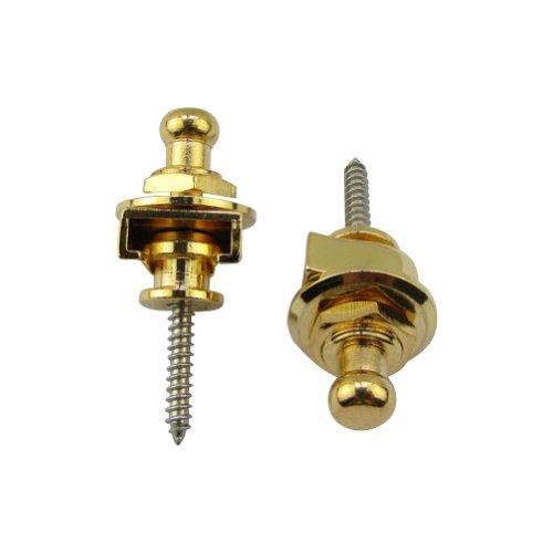 Cromo Musiclily Metallo Security Lock Attacchi di Sicurezza Serratura Cinghia Tracolla per Chitarra o Basso 2 Pezzi