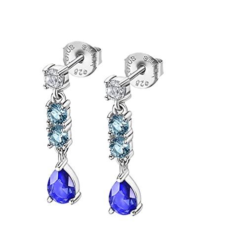 Lotus Silver Pendientes Pure Essential LP3251-4/2 circonitas Azules y Blancas