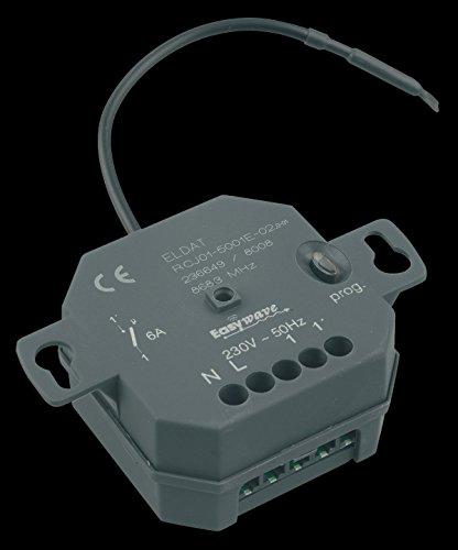 Easywave RCJ015001E02 Unterputz-Empfänger RCJ01 potentialfrei 230V, Schwarz