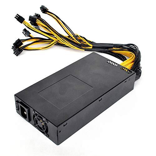 1U 1800W Single Way ATX Computer Netzteil für Mining Machine Support Grafikkarte Ausgang bewertet Bitcoin Power - Schwarz