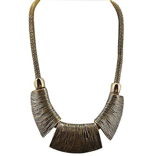 Alte Gold Frauen Halskette Mode Bekleidung Accessoires