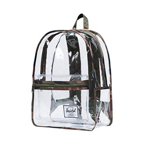 Herschel Classic X-Large Woodland Camo/Clear - Clear Bags