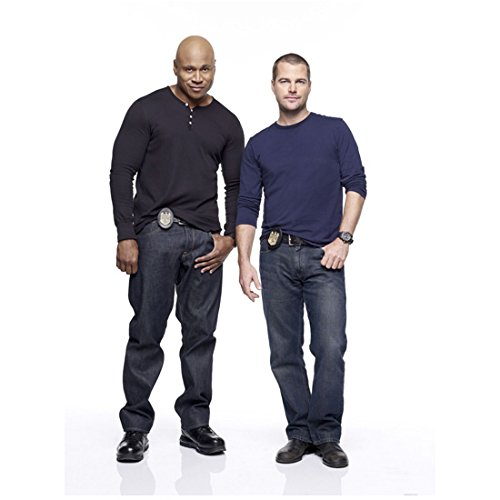 NCIS Los Angeles Chris O'Donnell with LL Cool J Standing with Hands in Pockets Pose 8 x 10 inch photo