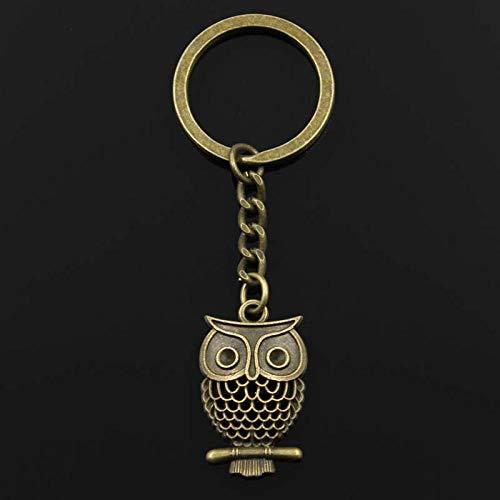 WANM Schlüsselanhänger Mode 30Mm Schlüsselring Metall Schlüsselanhänger Schlüsselbund Schmuck Antik Bronze Silber Coloured Plated Hollow Owl 32X19Mm Anhänger Legierung Anhänger