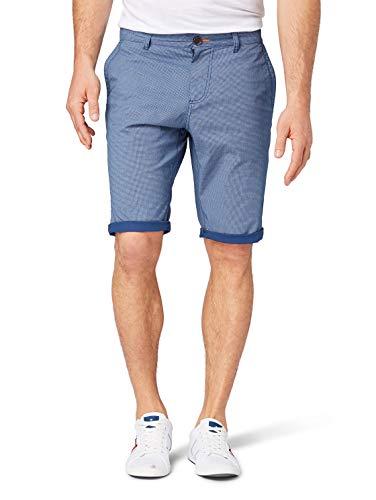 Tom Tailor Herren Chino Kurze Hose Shorts, Blau (Blue Bean Print 16482), 34