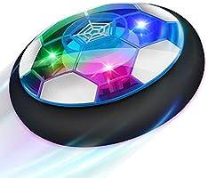 Baztoy Balón Fútbol Flotant, Recargable Pelota Futbol con Protectores de Espuma Suave y Luces LED, Balones Futbol...