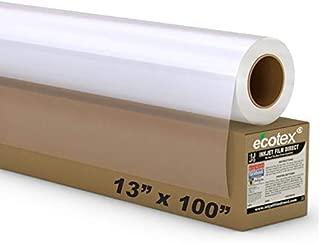 5 MIL - Waterproof Screen Printing Inkjet Film Transparency - 1 Roll (13 x 100)
