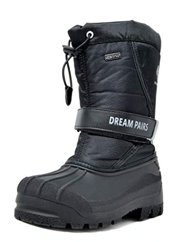 DREAM PAIRS Little Kid Kamick Black Mid Calf Waterproof Winter Snow Boots Size 11 M US Little Kid