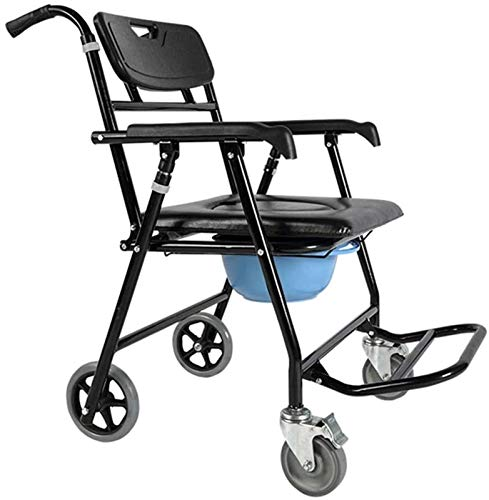 HMMN Silla Plegable para el baño, Ruedas para el baño doméstico, Utilizado para Mujeres Embarazadas con discapacitados Mayores