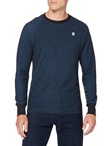 G-STAR RAW Herren T-Shirt Jirgi Tape Detail, Mazarine Blue/Cricket Blue 8633-B907, Large