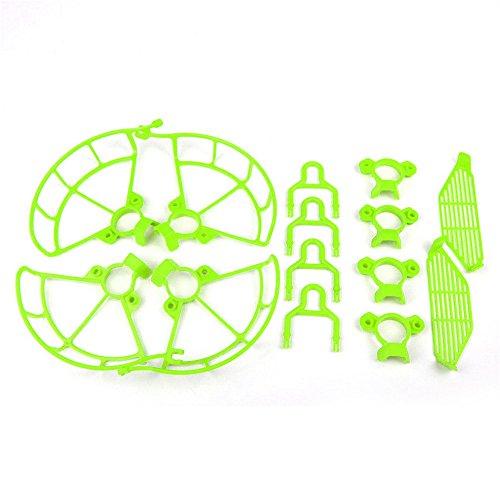 Xmipbs Spark Protector de Dedos y Protectores de h¨¦lice de liberaci¨®n r¨¢pida Protectores y Dispositivos de Aterrizaje Extensor de Altura de Pat¨ªn para dji Spark Quadcopter Verde