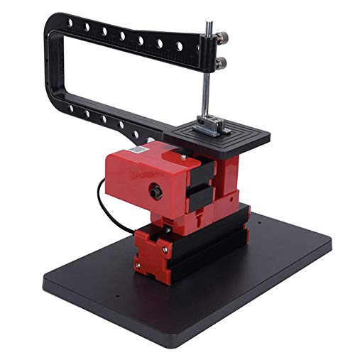 Save %9 Now! 110-240V Mini Bow Arm Jigsaw Machine, 20000RPM 24W Sawing Lathe Machine with Drilling P...