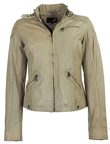 Jilani - Damen Lederjacke Jacke Lammnappa beige Vintage Größe 38