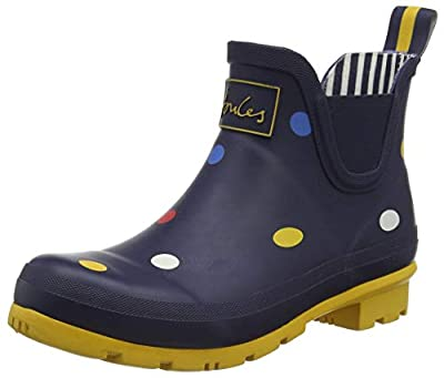 Joules Women's Work Wellington Boots, Blue Navy Multi Spot Navmltspt, 9 Medium US