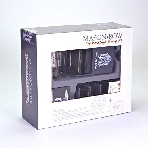 Stempel Anonymous Personalisierte Stempel Box Set, quadratisch, Acryl, Mehrfarbig
