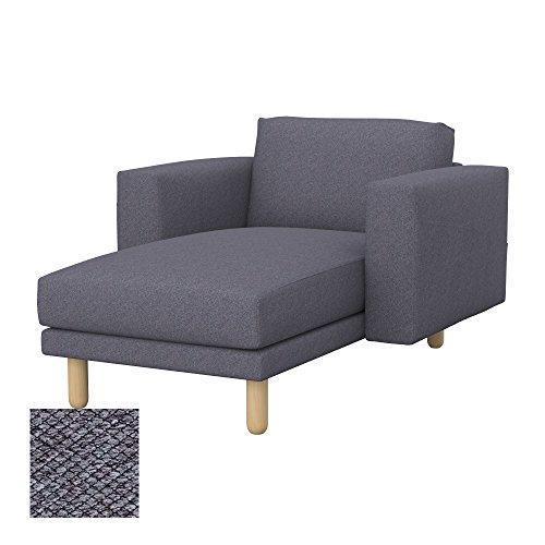 Soferia - IKEA NORSBORG Funda para chaiselongue, Nordic Anthracite