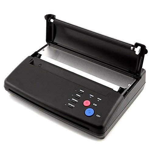 DiLiBee Thermal Kopierer Tätowierung hermal Thermodrucker Tattoo Thermo Kopierer Transfer Printer Maschine Schwarz A4