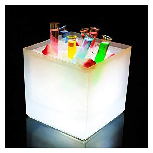 Cubo de hielo cuadrado, champán resplandeciente enfriador de vinos con refrigerador de bebida de hielo para bebidas de vino portátil de la banda de bebidas para la fiesta para la barra de fiesta al ai