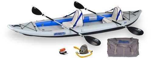 Sea Eagle Fast Track 2-Person Inflatable Kayak Deluxe Package (385-Feet 12-Feet 6-Inch) by Sea Eagle