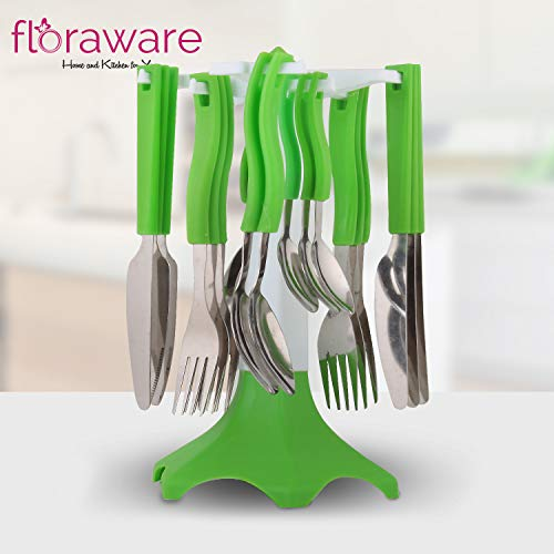 Floraware Regular Cutlery Set, 25-Piece, Green