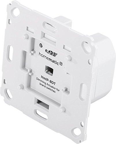 Homematic IP Smart Home Dimmaktor für Markenschalter – Phasenabschnitt, Phasenabschnittsdimmer für dimmbare Leuchtmittel sowie auch für die meisten dimmbaren(!) LED-Lampen, 143166A0