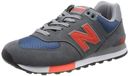 New Balance Herren ML574 D Sneaker, Grau (Grey/Blue Grey/Blue), 45.5 EU