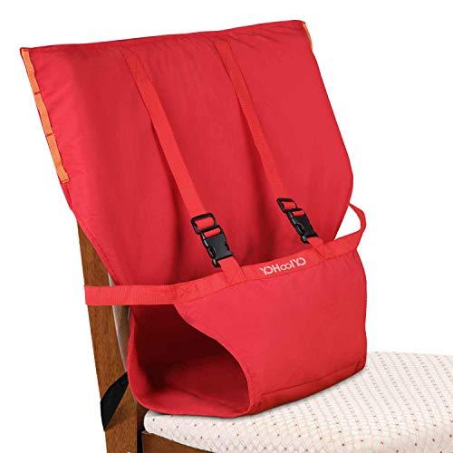 YOHOOLYO Chaise Haute Portable Bébé Chaise Nomade pour Sécurité Chaise et Alimentation bébé Facilement Dehors Rouge