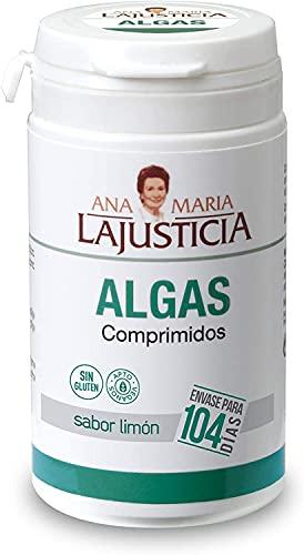 Ana Maria Lajusticia - Algas – 104 comp. (sabor limón). Mejora de la celulitis y favorece la eliminación de líquidos. Apto para veganos. Envase para 104 días de tratamiento.