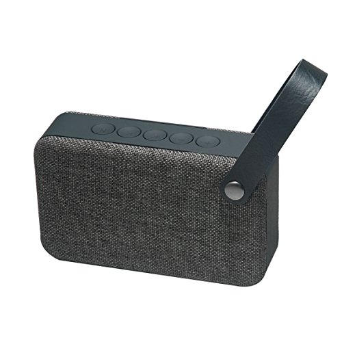 Muvit SD2 - Altavoz Bluetooth (inalámbrico, con Tela), Color Gris
