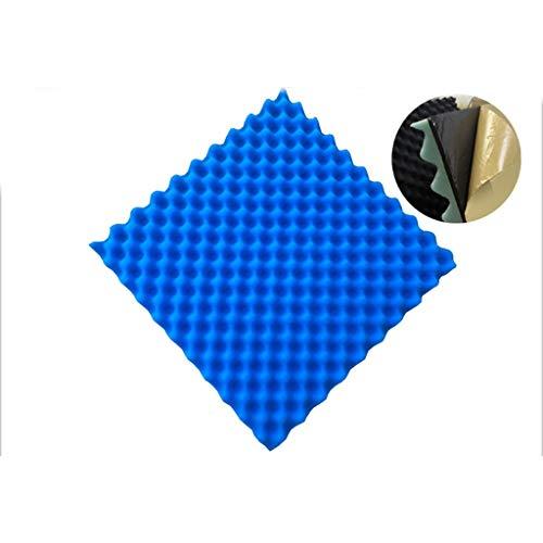 10PCS High Density Flammhemmend Schallschutz Baumwolle mit klebender Rückseite Aufkleber Kino Klavier Raumakustikschaum Schallschutz Proofing (Color : Navy blue(10pcs), Size : L50XW50XH4.5cm)