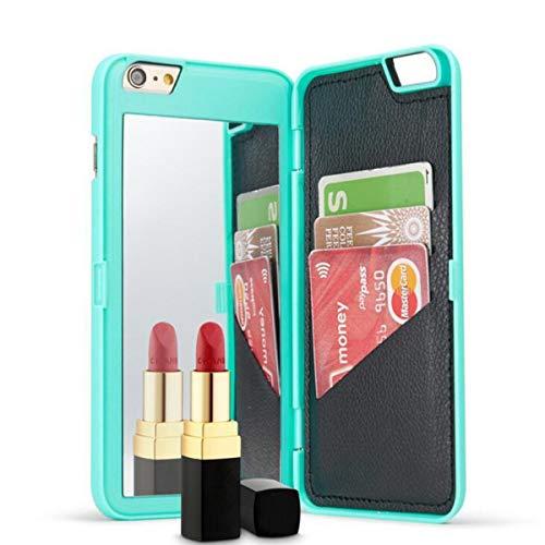 NANXCYR pour iPhone XS / 6 / 6s / 6plus / 7 / 7plus / XCase, étui Antichoc de Couverture de Gel de silice mirroir pour Miroir de Maquillage, pour iPhone 8 / 8Plus / XR/XS Max