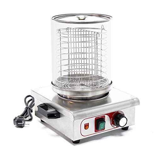 WilTec Machine à Hot-Dog Chauffe-saucisses 450 W Récipient à Vapeur Appareil de Chauffage Cuisine Maison
