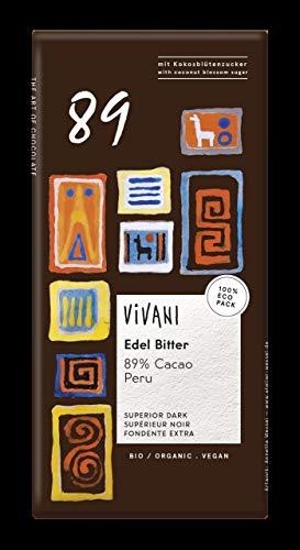 Vivani Chocolade Puur Superieur 89% Peru, 80 g, 1 Units