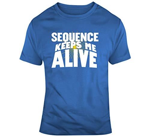 LIYUAN T-Shirt Sequence Keeps Me Alive Cool Brettspieler, Geschenk, Blau Gr. 56, blau
