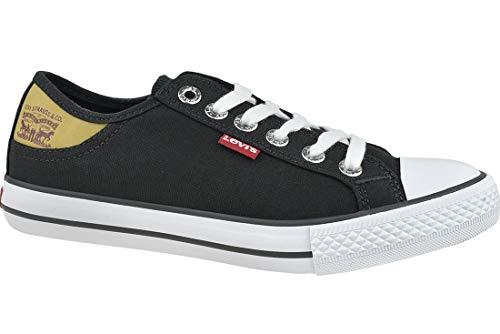 Levi's 222984-733-59_43, Zapatillas de Lona Mujer, Negro, EU