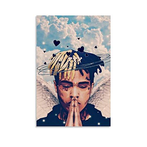 JDQS Poster sur toile et tableau mural représentant le rappeur hip-hop Xxxtentacion 30 x 45 cm
