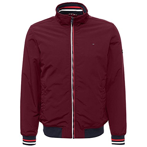 Tommy Hilfiger Basic Padded Casual Chaqueta, Rojo (Windsor Wine 674), Large para Hombre