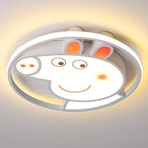 Lámpara LED de techo de Peppa Pig con diseño de animales creativos, regulable, para habitación de los niños, para el dormitorio, para el bebé, para el balcón, color blanco, 52 W