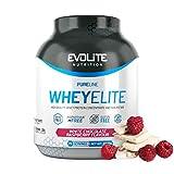 Evolite Nutrition WheyElite 2270g - Proteina Whey - Crear Batidos Para Adelgazar - Proteinas Para Aumentar Masa Muscular - Proteina Isolada (Frambuesa de chocolate blanco)